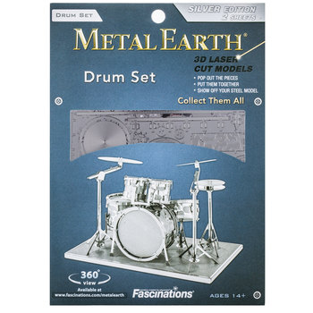 Drum Set Metal Earth 3D Model Kit